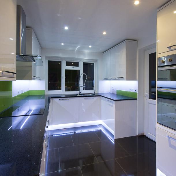 Kitchen With Black Worktops: BM Plumbing And Installation
